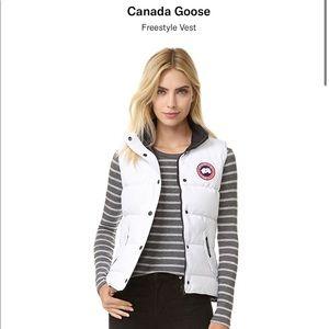 White canada goose freestyle vest